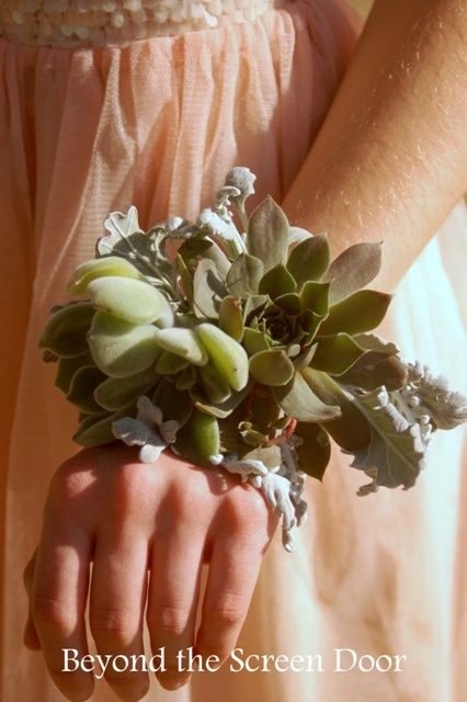 Succulent Prom Corsage - Beyond the Screen Door