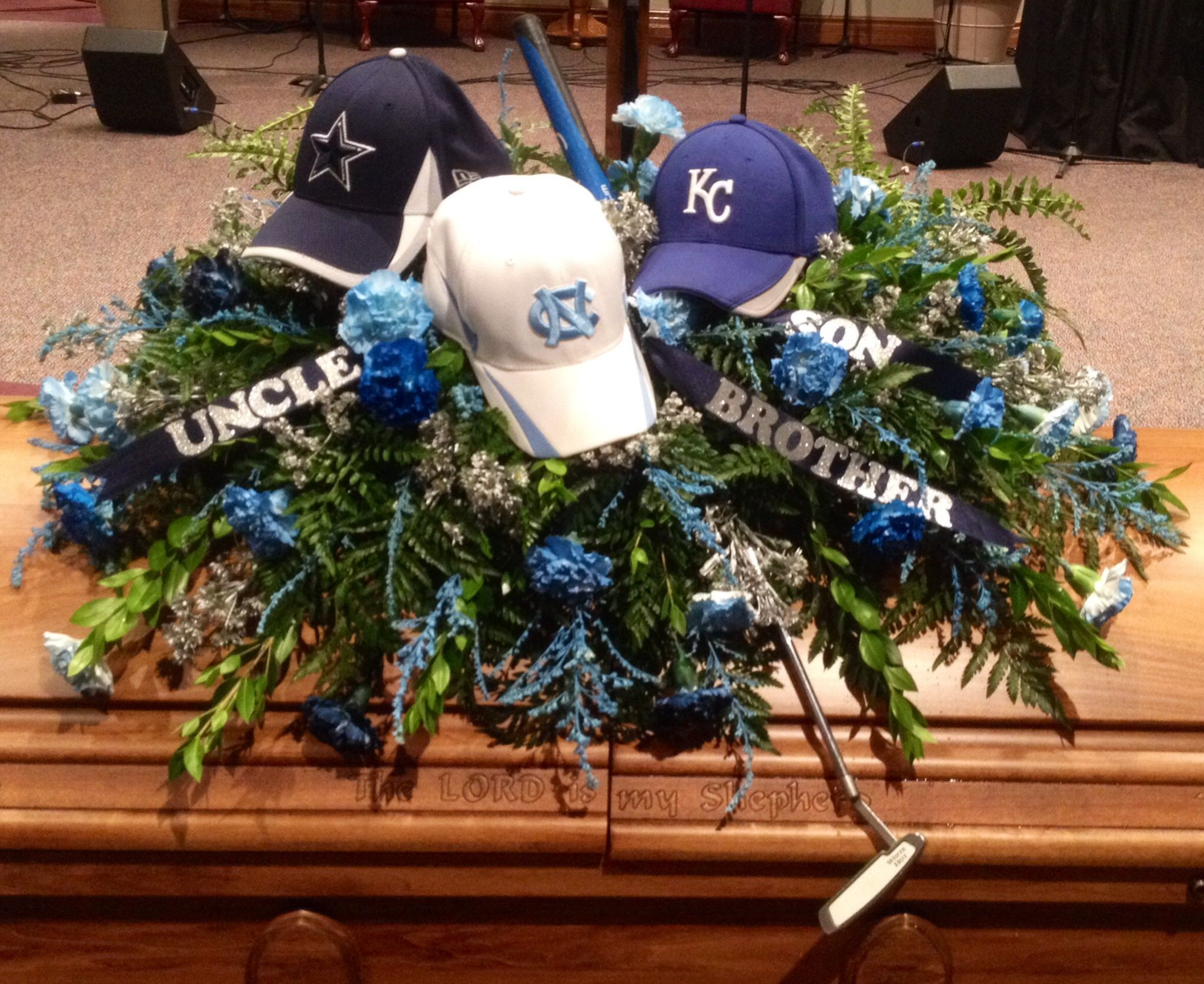 Casket spray for the ultimate golfer north carolina fan cowboys casket spray for the ultimate golfer north carolina fan cowboys fan royals fan izmirmasajfo