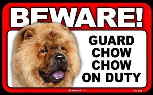$5.99 - Beware Guard Dog On Duty Sign - Chow Chow #ebay # ...