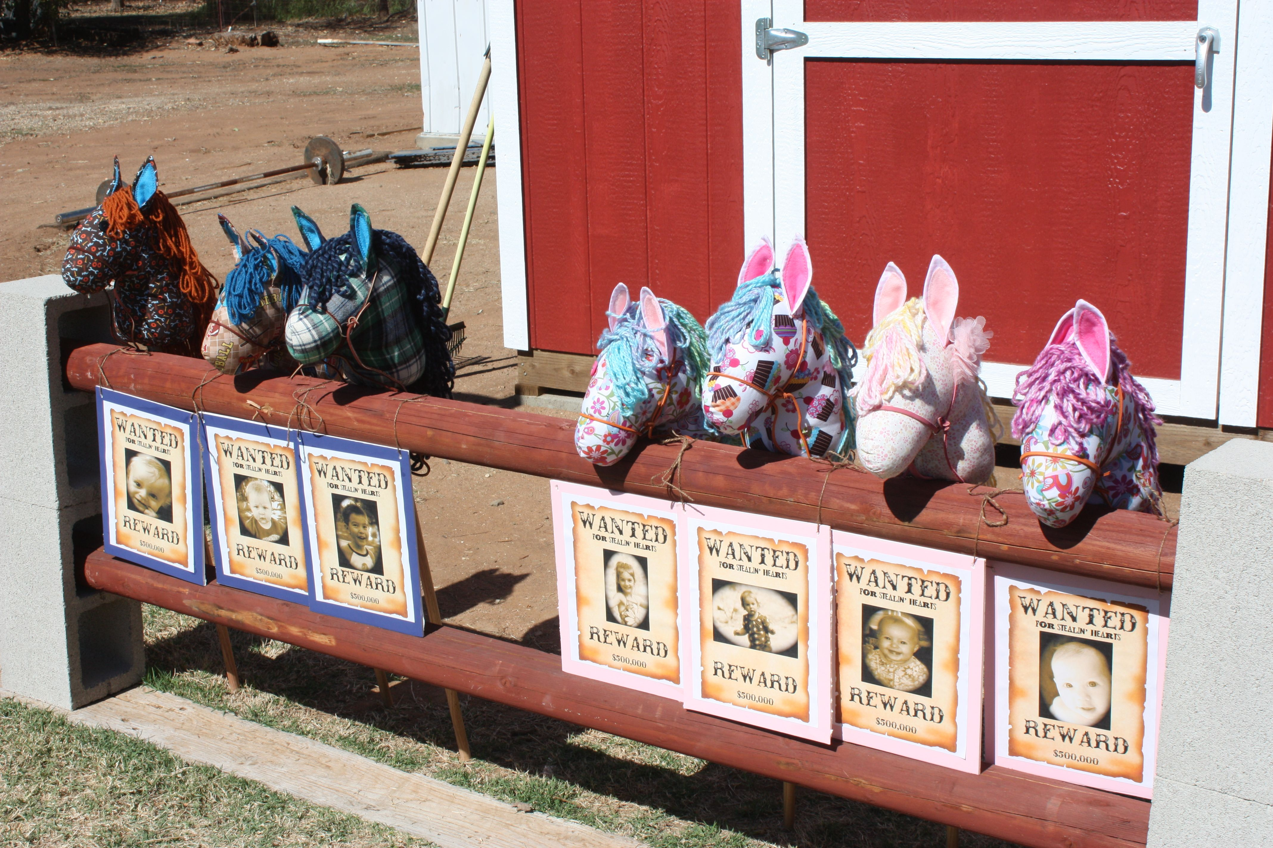 Havynn's First Rodeo (AKA Birthday).  I made these stick ponies for all the children that attended the rodeo.