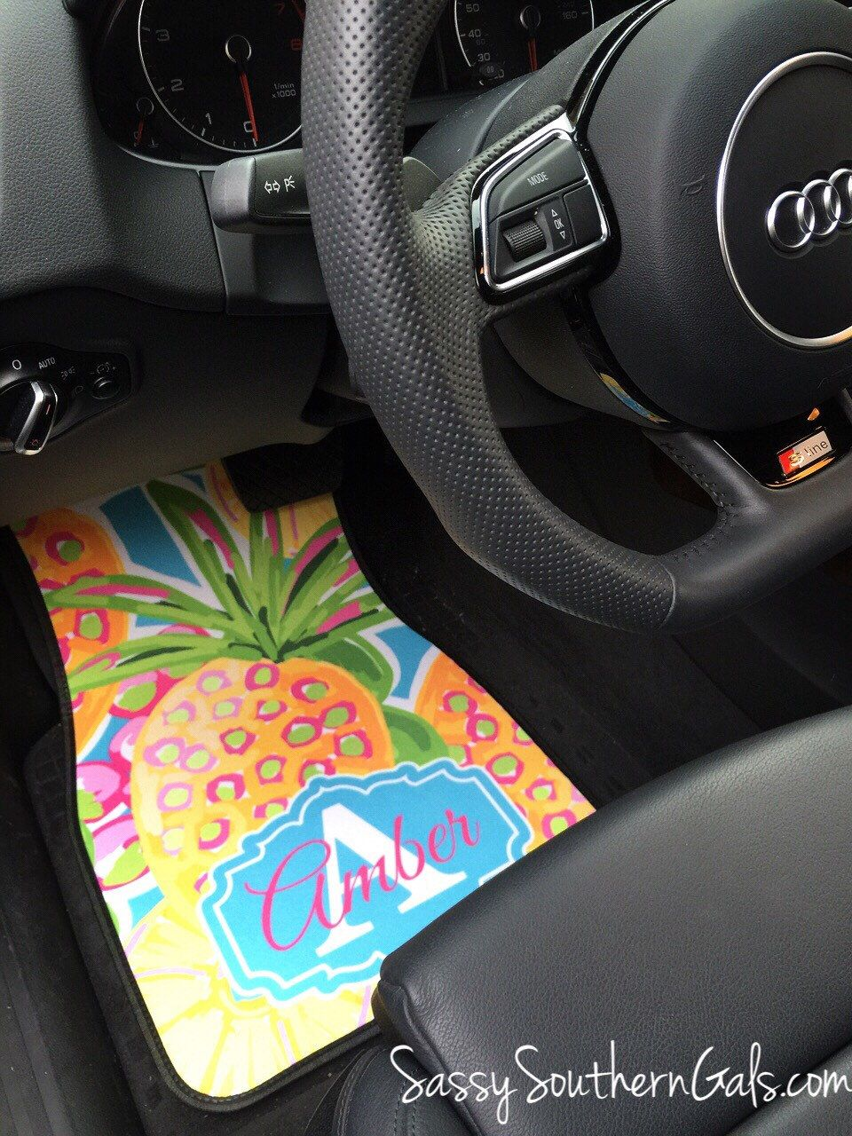 Sweet 16 Gift, Monogrammed Lilly Pulitzer Inspired Car Mats ...