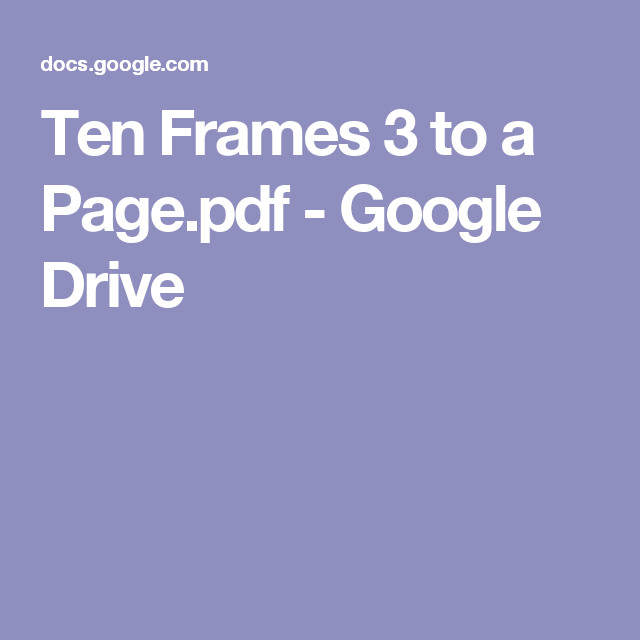 Ten Frames 3 to a Page.pdf - Google Drive