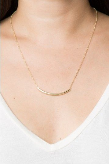 Brandy ♥ Melville   Gold Tube Necklace - Jewelry - Accessories $6