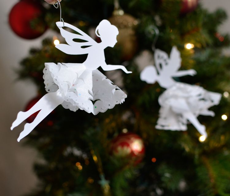 Photo of Snowflake Paper Fairies with a Printable Template