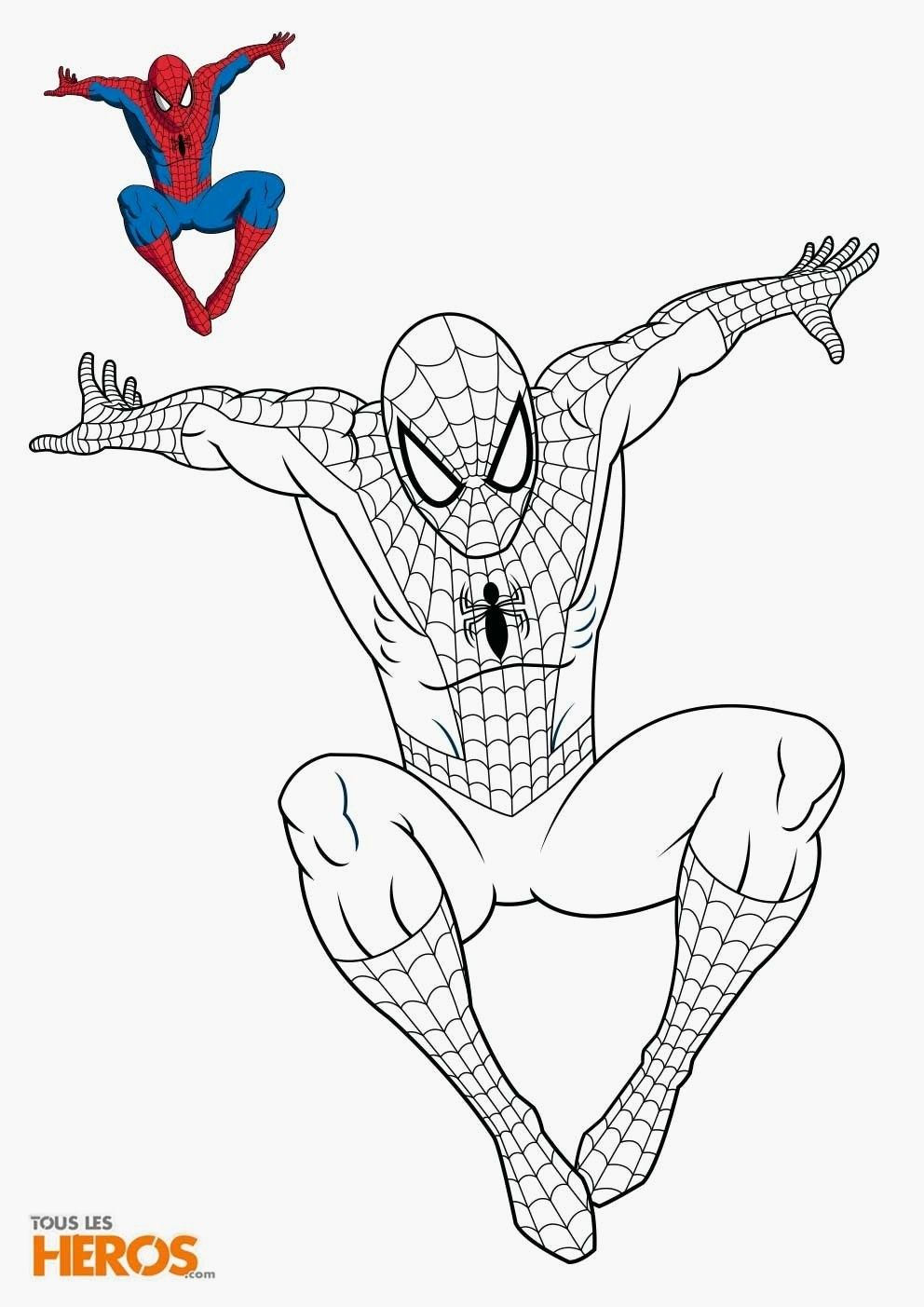 10 Awesome Marvel Colouring Book Spiderman Coloring Cartoon