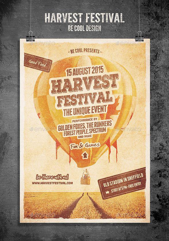 harvest festival flyerposter