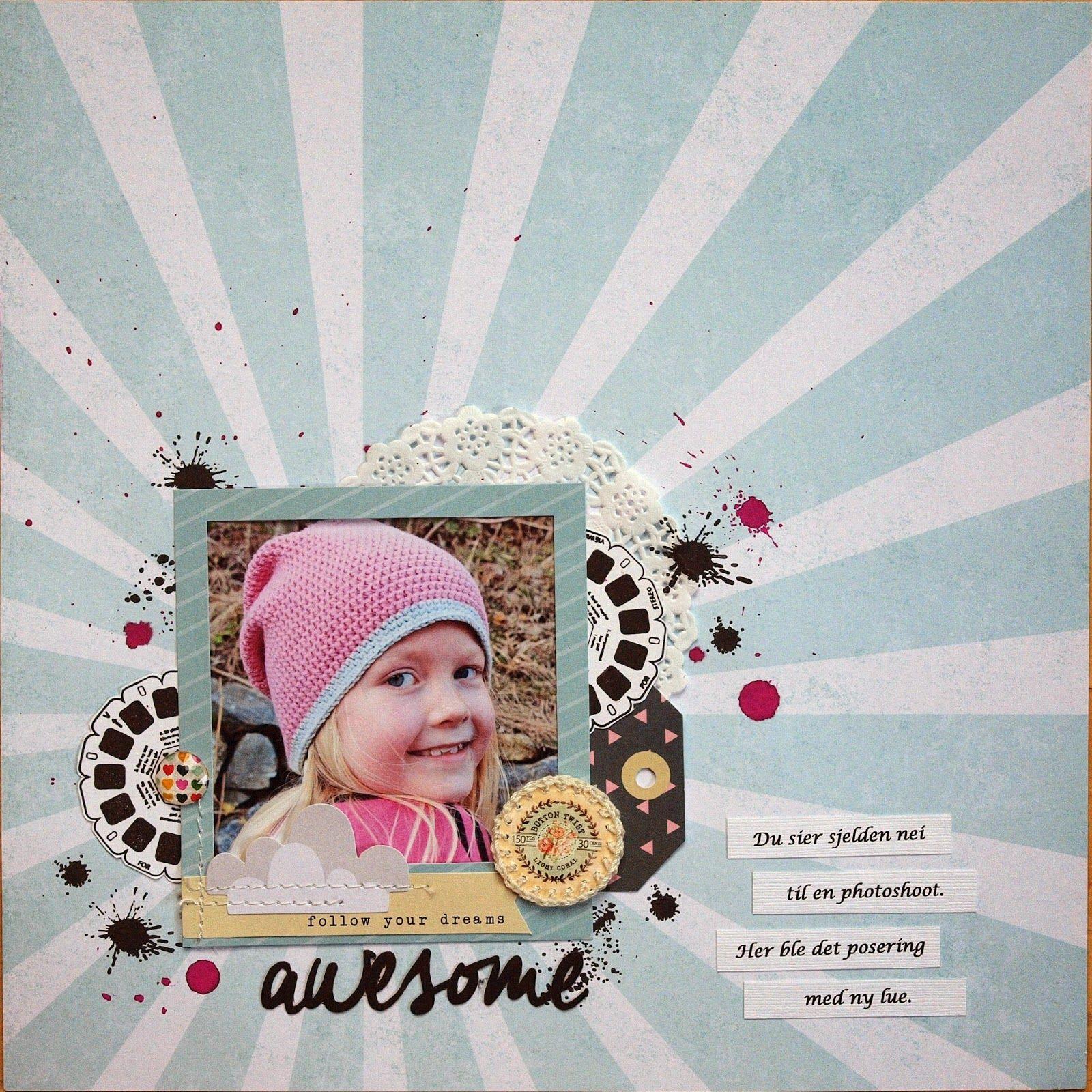 Jonna har lagd denne med stempler og ark fra Papirdesign.