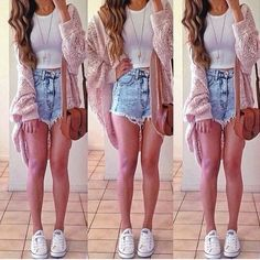 crop top outfits with high waisted shorts - Google Search ...