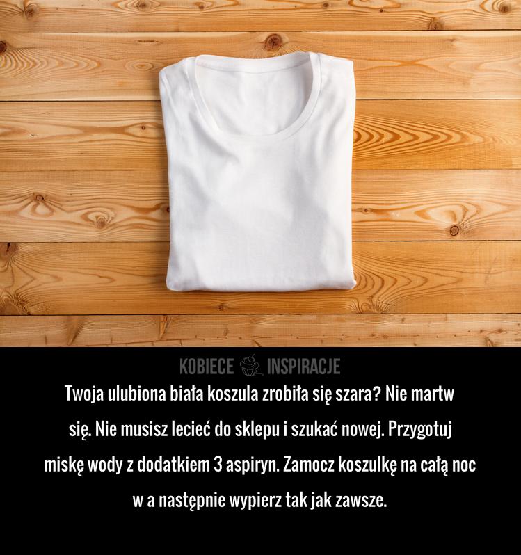 Jak przywrócić biel koszuli?