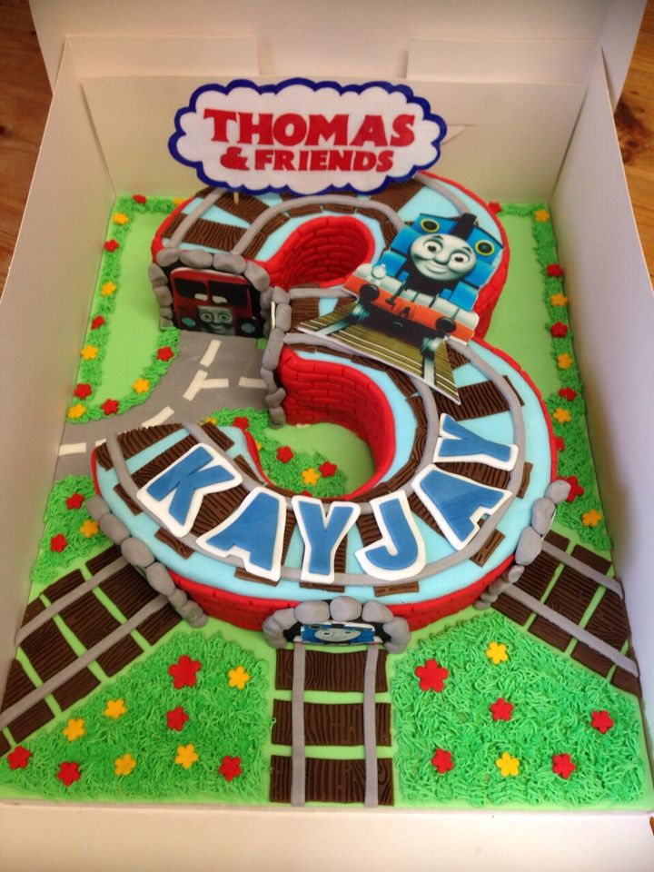 Thomas the tank engine and friends number 3 cake
