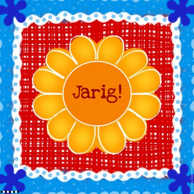 Jarig bloem geel, verkrijgbaar bij #kaartje2go voor €1,89