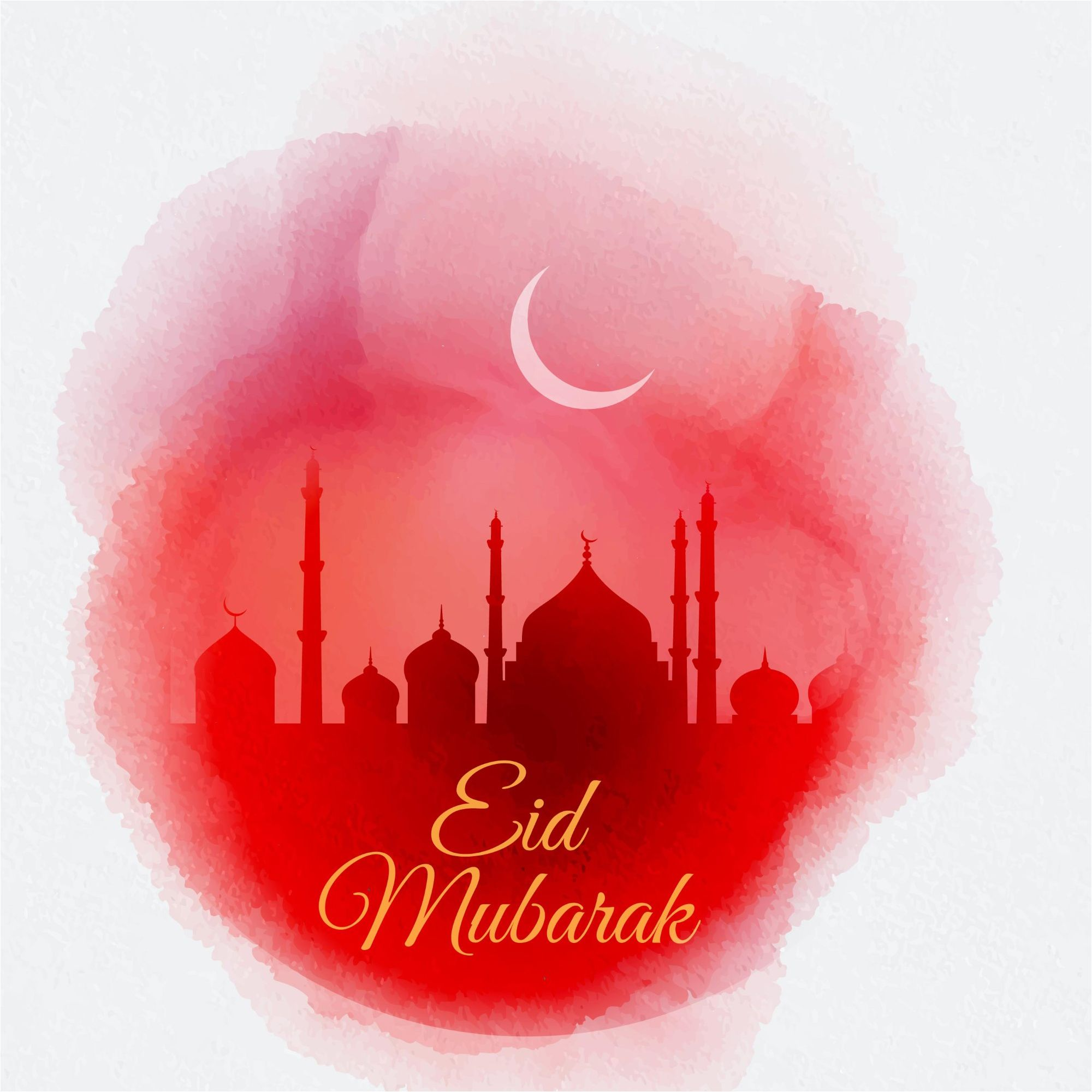 Best 200 Free Eid Mubarak Vector Greeting Card Background With