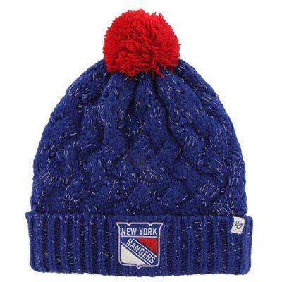 772b9c6799a Womens New York Rangers  47 Brand Royal Blue Fiona Knit Beanie