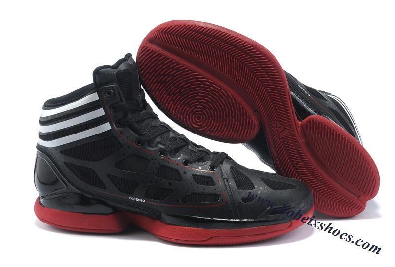 d0191884d89 Adidas Adizero Crazy Light Derrick Rose Shoes Black Red White