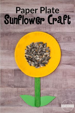 simple sunflower craft work it takes a big heart to shape small