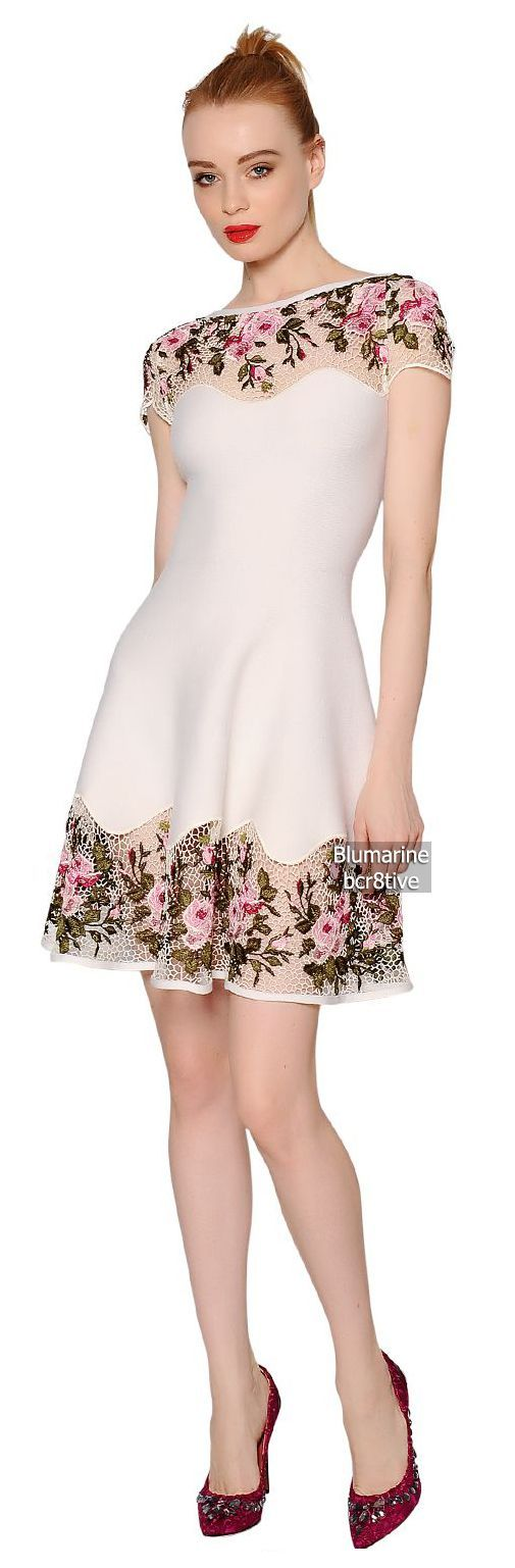 Blumarine Embroidered Lace Dress
