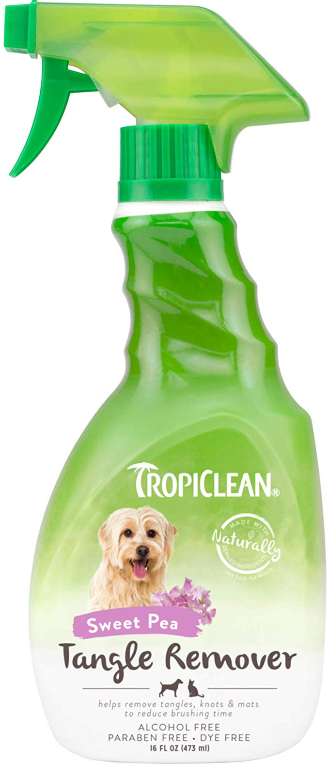 Tropiclean Detangler Amazon Com Tropiclean Tangle Remover 16oz In 2020 Pet Grooming Tools Grooming Tools Paraben Free Products