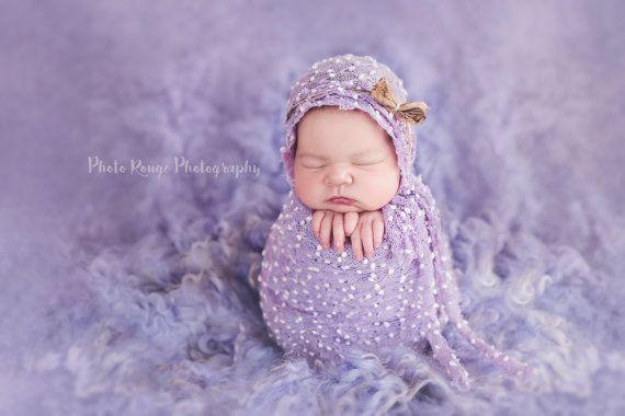 Rts Extra Long Lilac Stretch Knit Wrap Newborn Photo Prop Uk Seller
