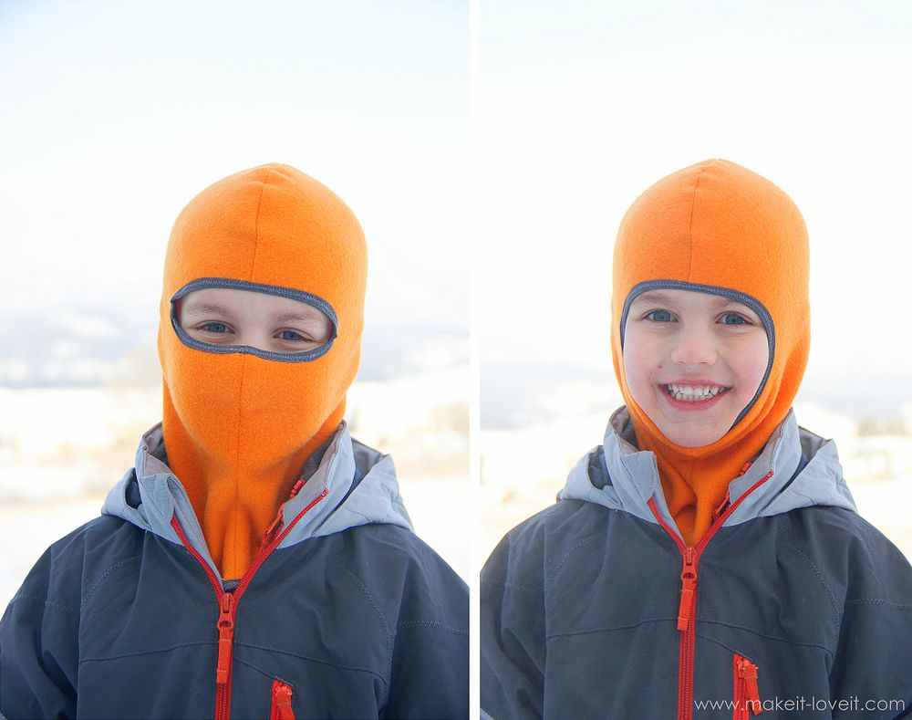 Make your own Balaclava (or ski-type mask | Schnittmuster kinder ...