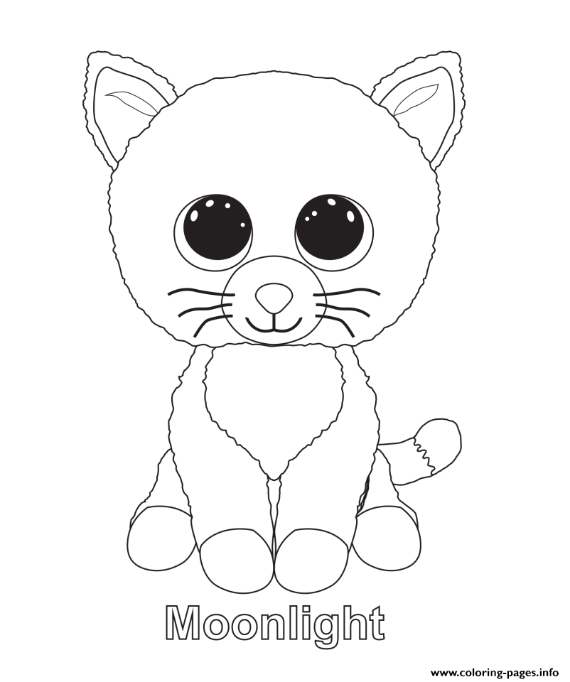 Print moonlight beanie boo coloring pages embroidery patterns