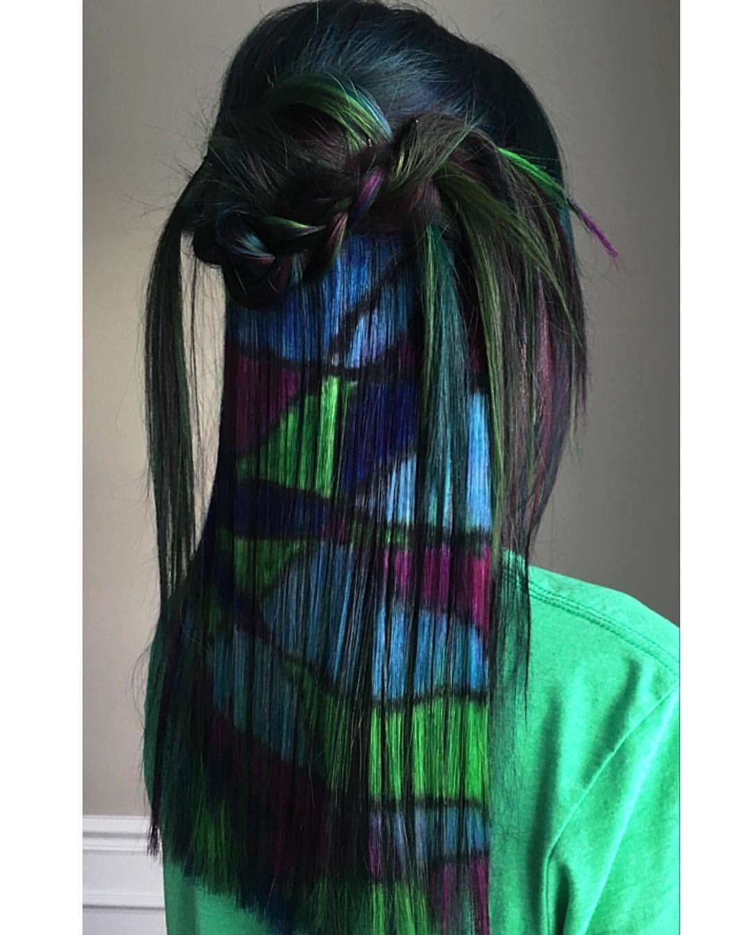 shattered glass hair technique by pravana artistic educator, dj