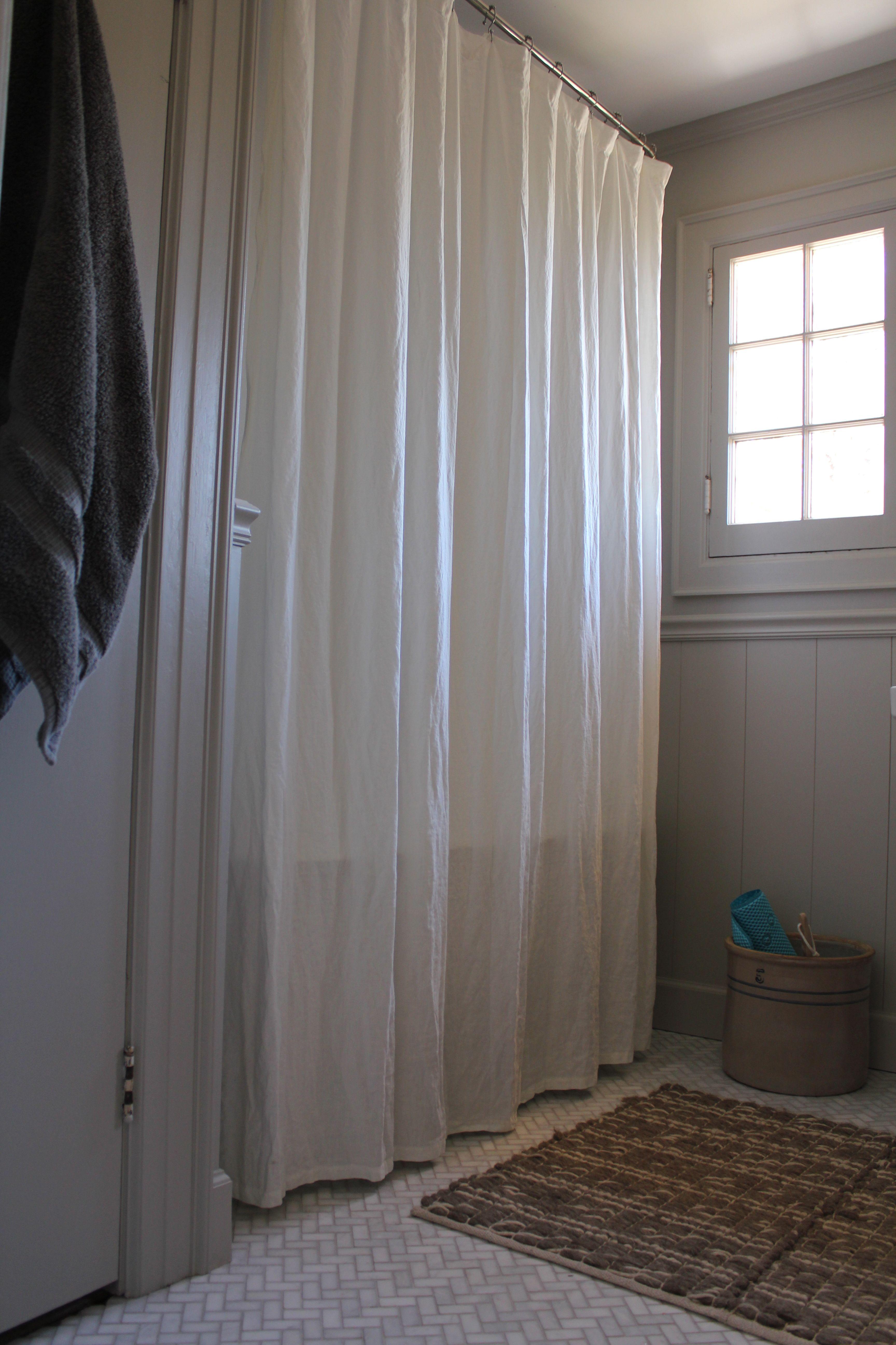 extra long restoration hardware linen shower curtain honed marble herringbone tile extra long shower curtain long shower curtains restoration hardware linen