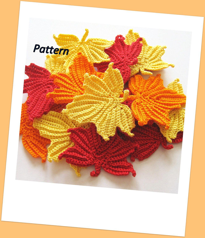 Maple Leaves Crochet Pattern. $4.50, via Etsy. | crochet | Pinterest ...