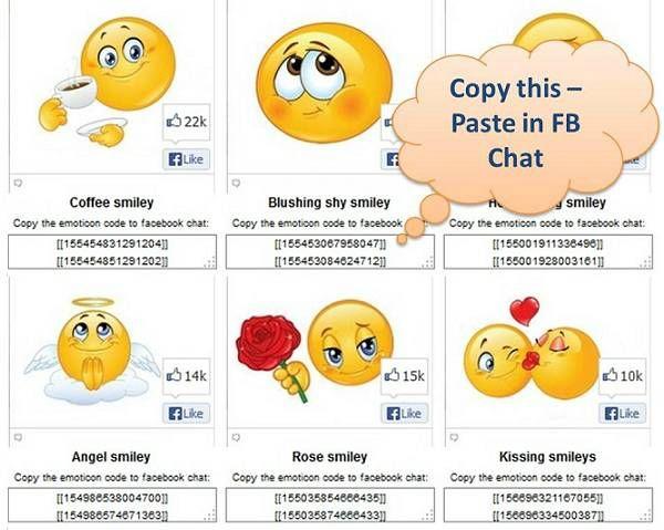Hidden Secret Facebook Emoticons and Smileys FB Chat