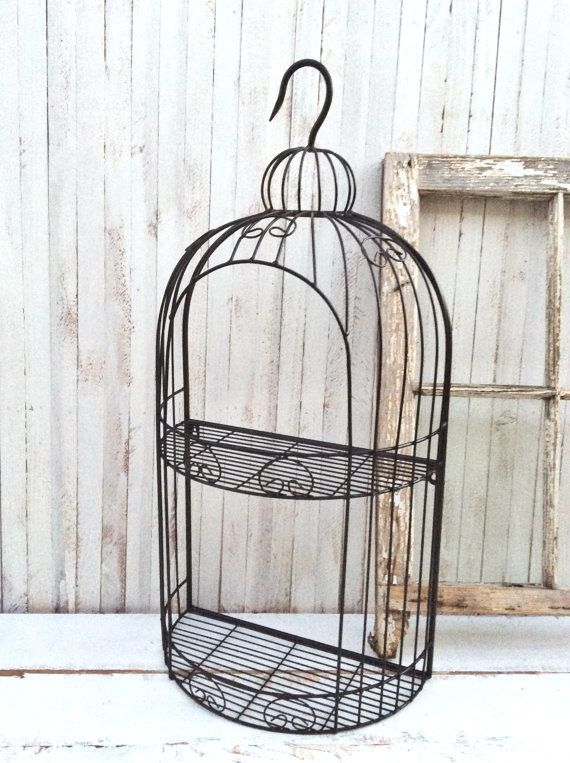Bird Cage Display Wall Shelf Country by CamillaCotton on