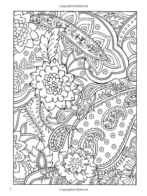 Paisley Design Coloring Pages Animals | paisley coloring books ...
