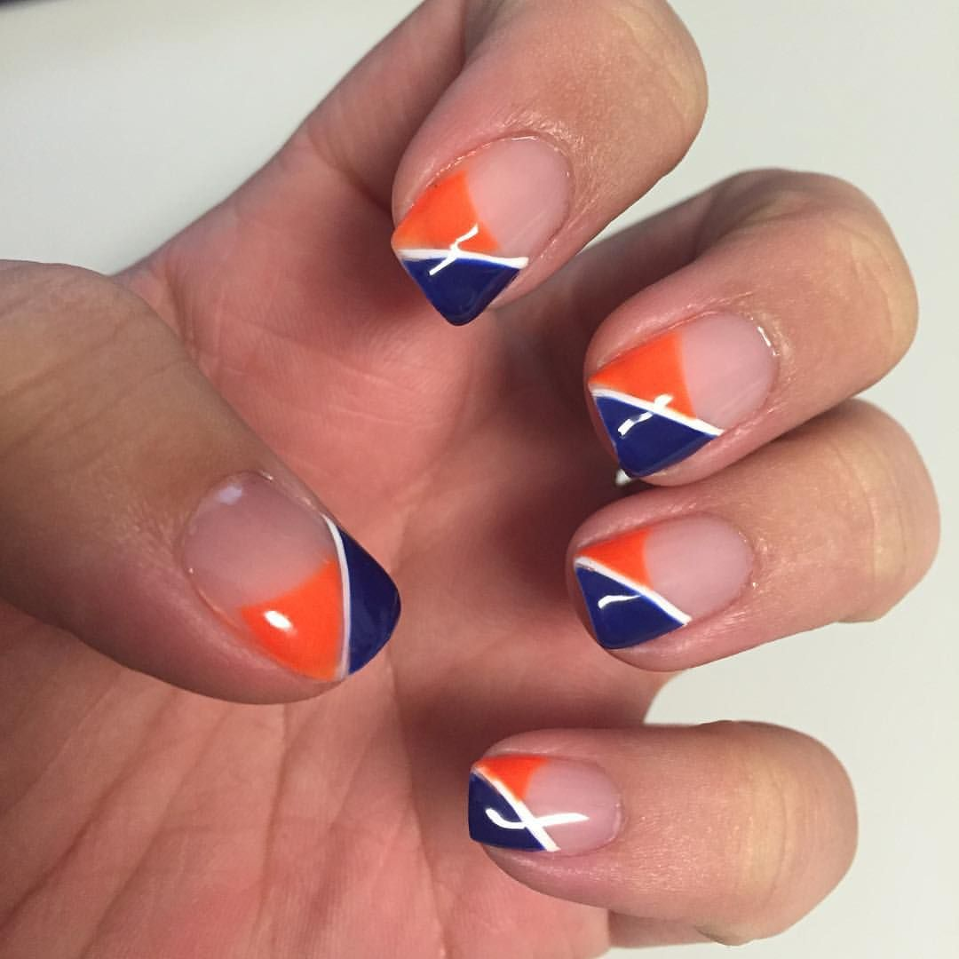 BroncosCountry nails | nails | Pinterest | Sports nail art, Finger ...