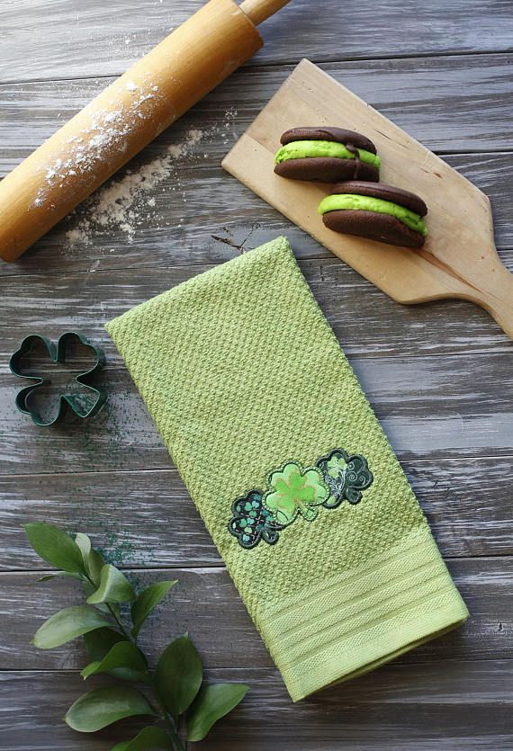 St Patrick S Day Towel St Patricks Day Decor Embroidered Kitchen