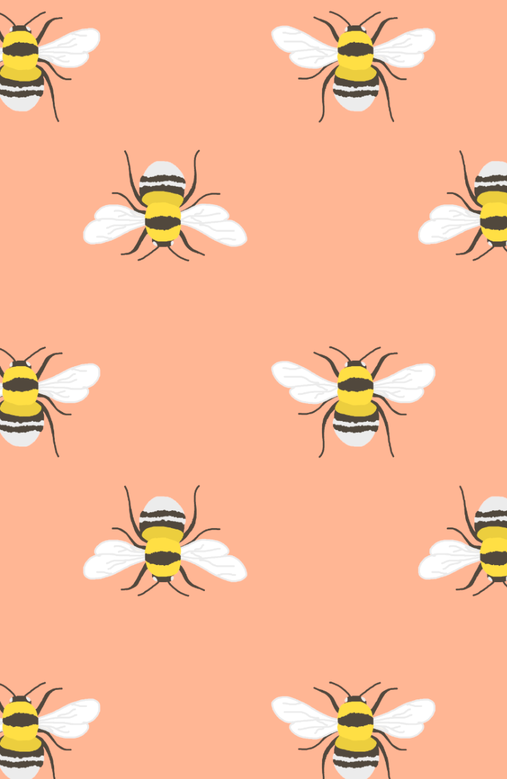 Bee children pattern telephone background/screensaver