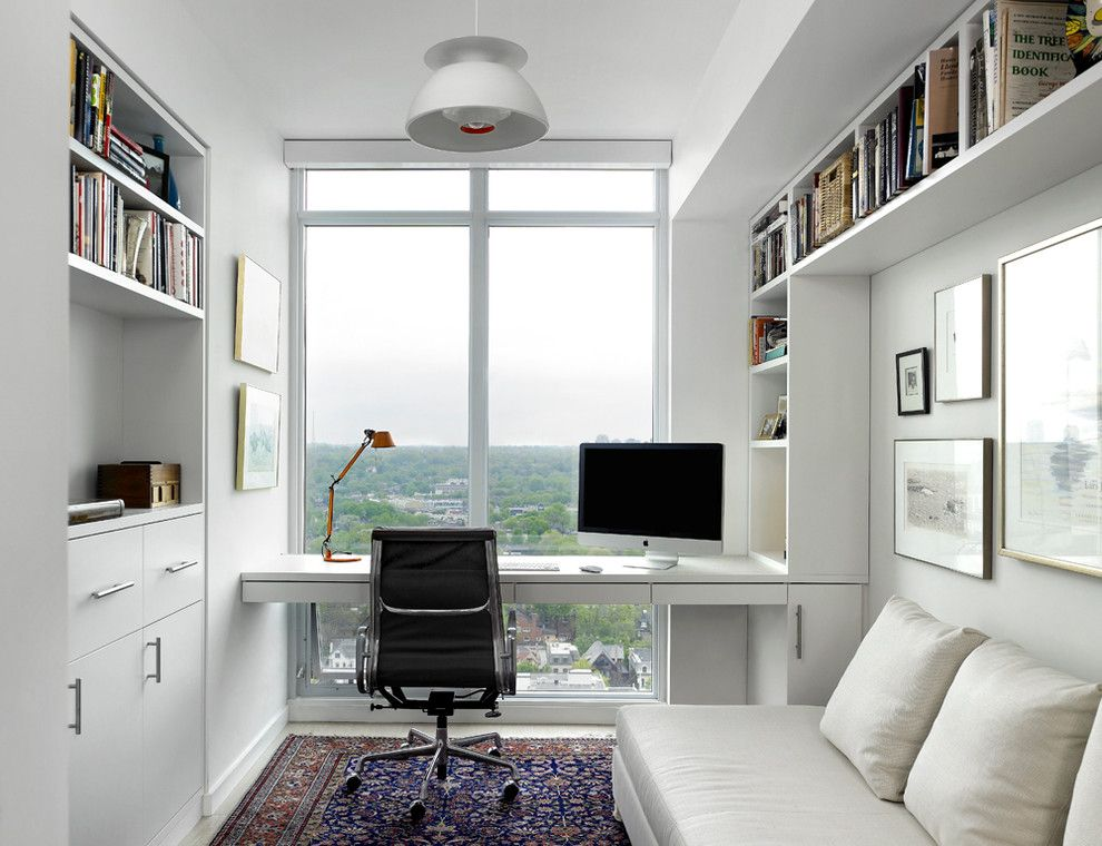 Dazzling techni mobili computer desk in Home Office Scandinavian with  Floating Desk next to Modern Condo