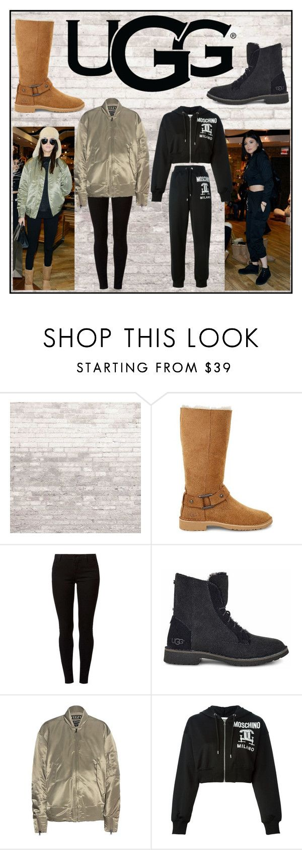 """The New Classics With UGG: Contest Entry"" by milenn-h ❤ liked on Polyvore featuring UGG Australia, UGG, Dorothy Perkins, adidas Originals, Moschino and ugg"