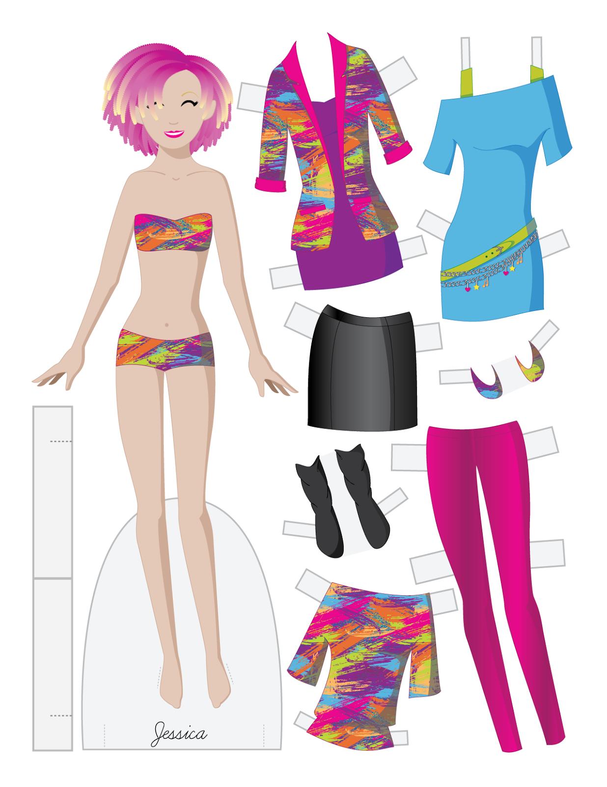 JESSICA by Julie Matthews from Paper Doll School | PAPER DOLLS ...