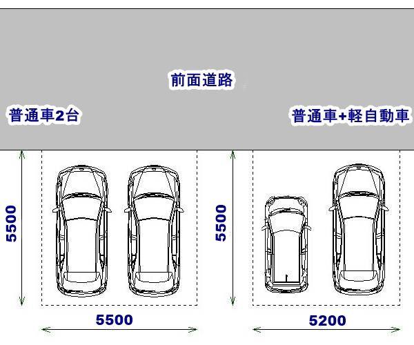 駐車場に必要な寸法 駐車場 ガレージのデザイン 家の設計