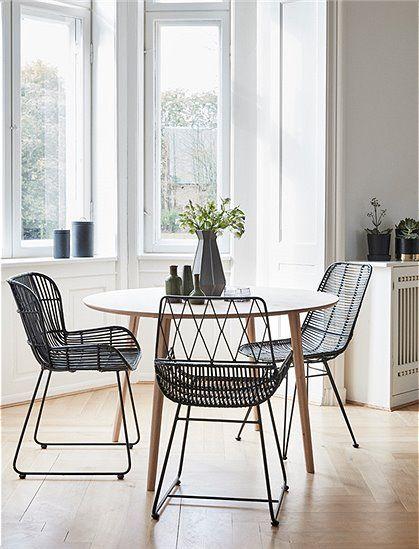 Toller Stuhl Aus Rattan, In Schwarz Von HÜBSCH Interior. Große Auswahl ✓  Online Shop ✓ Jetzt Bestellen ✓. Dänisches Design: ...