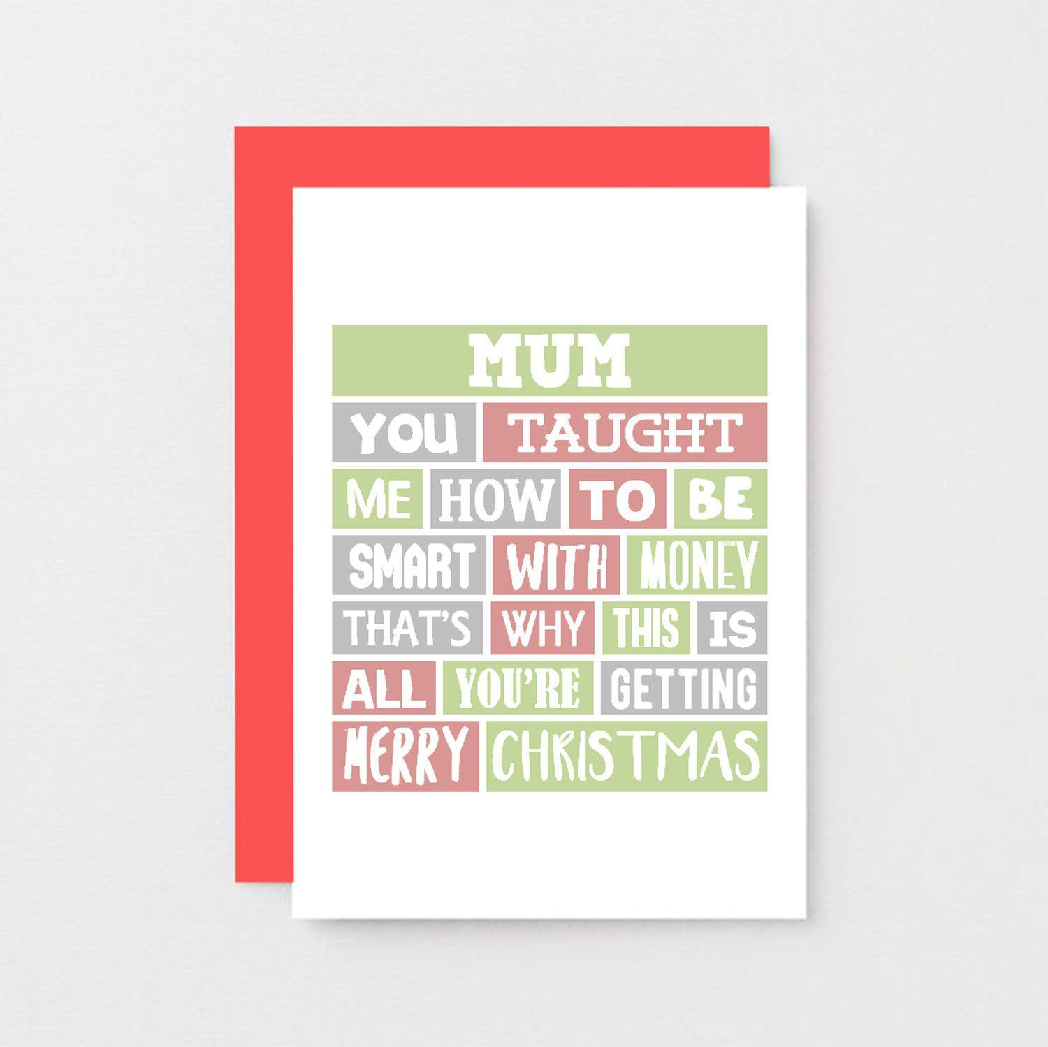 Funny Mum Christmas Card For Mum From Son Merry Christmas Mum From Daughter Christmas Car Funny Xmas Cards Funny Christmas Cards Christmas Presents For Dad