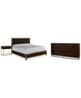 Jameson Bedroom Furniture Set, 3-Pc. Set (King Bed, Dresser ...