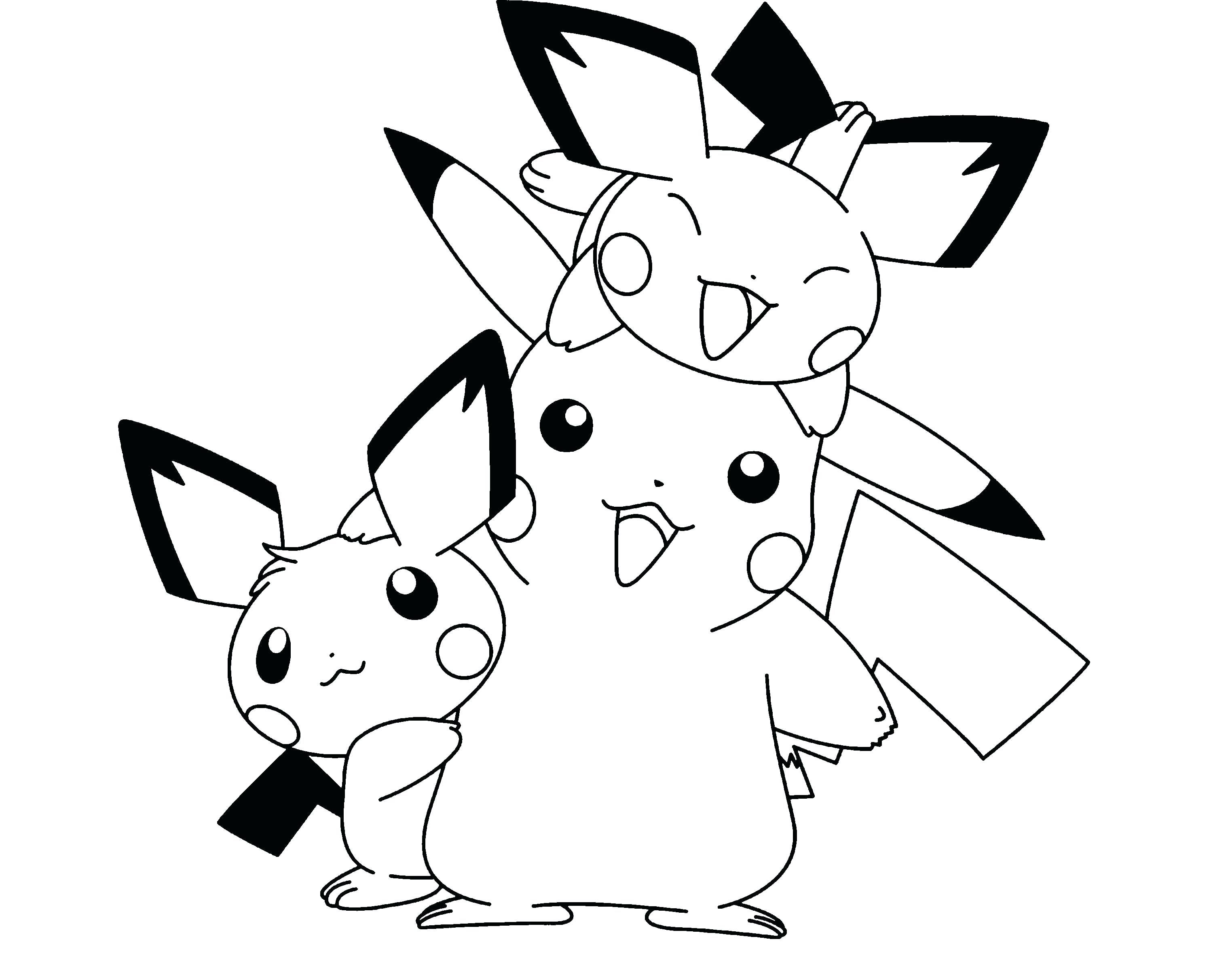 Baby Pikachu Coloring Pages Printable Pikachu Coloring Page