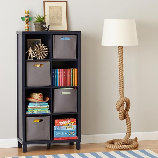 Cubic Bookcase Midnight Blue 8 Cube The Land Of Nod Color