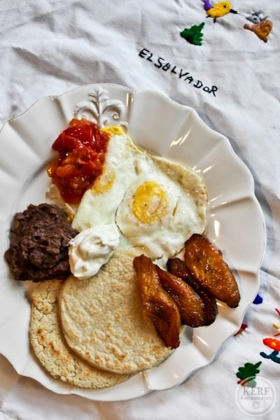 Salvadoran Breakfast with Hand-made Tortillas and Horchata - Kath Eats Real Food