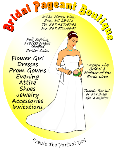 Free Bridal Pageant Boutique Flyer Template To Download Flyertutor