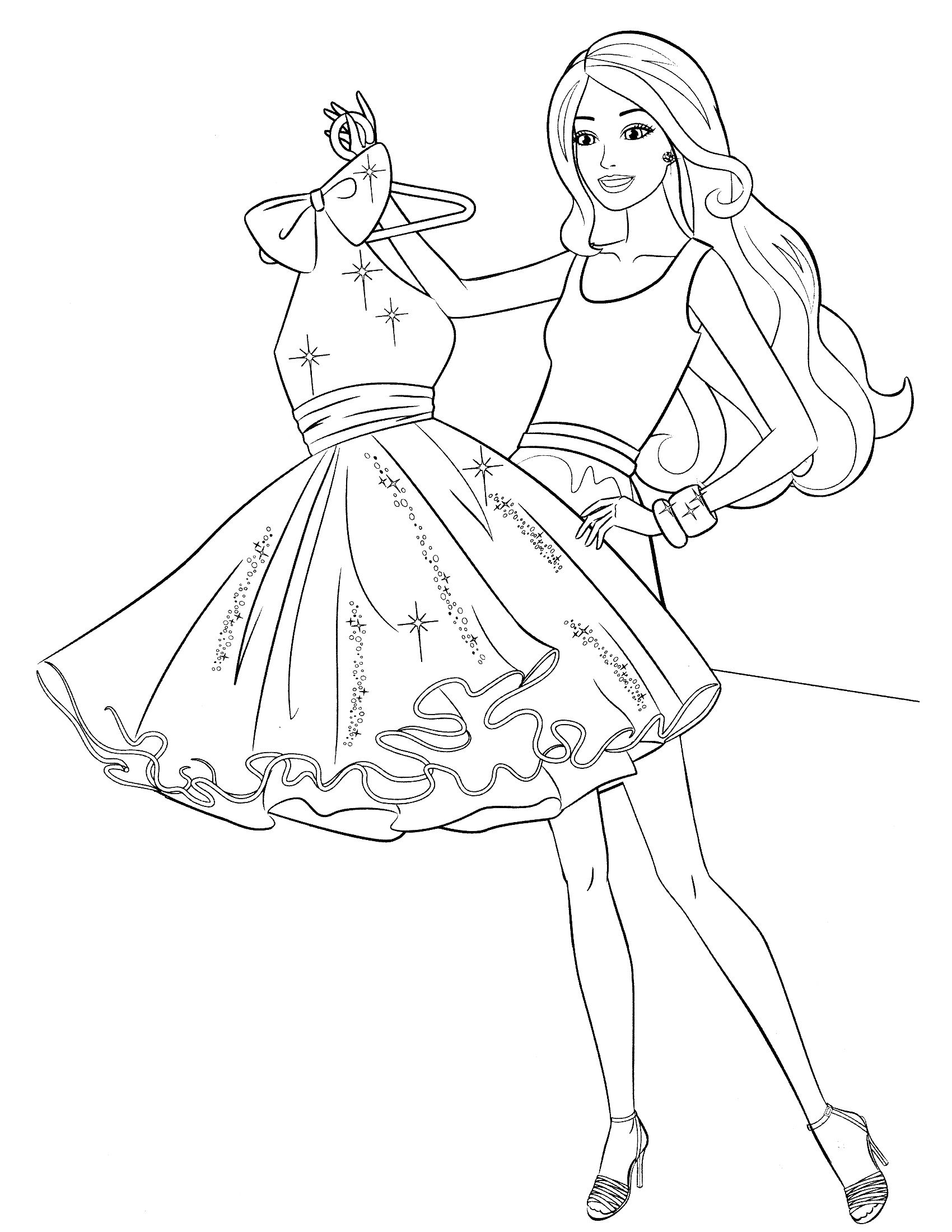 Barbie Dress Coloring Pages Coloring Pages Barbie Coloring Pages Barbie Coloring Princess Coloring Pages