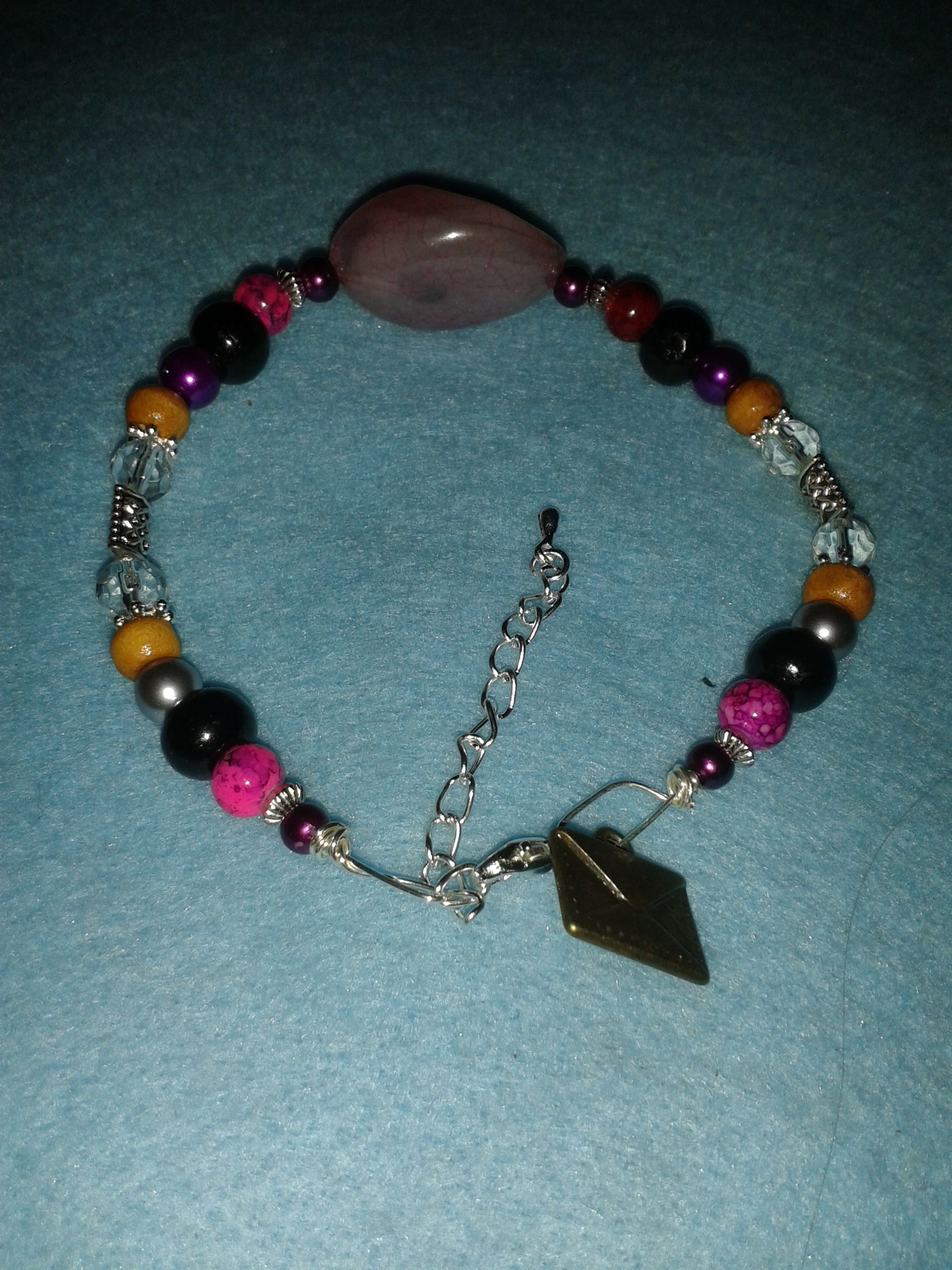 Bracelet from 16/06/14. Price £7.50. Designed with love by me, pain terrible today.