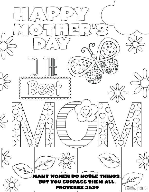 Mothers Day Coloring Pages Free Printable Mothers Day Coloring