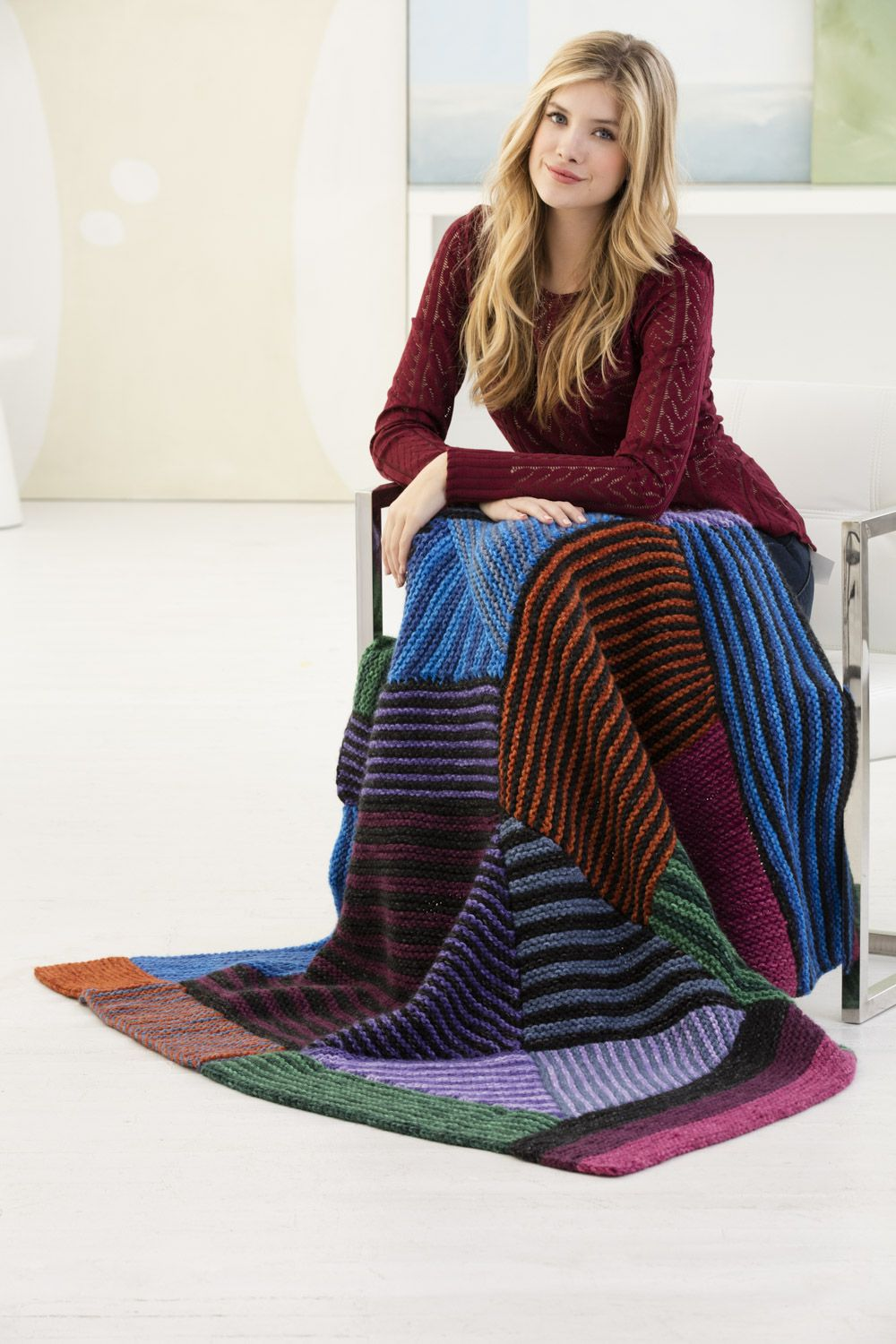 Knit this beautiful afghan with new Wool-Ease Tonal! Get the free ...