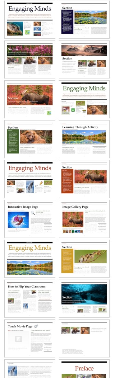 Education templates for iBooks Author Create an interactive ebook