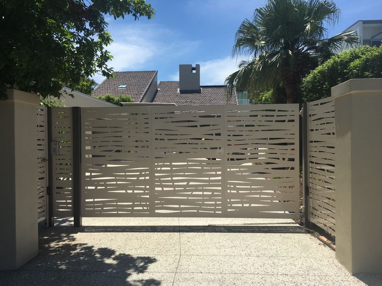 Single Swing Gate Bali Design Barley Colour Gates In